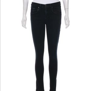 Rag & Bone Womens High Rise Skinny Dark Jeans 25
